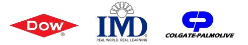 Dow, IMD and Colgate Palmolive logos