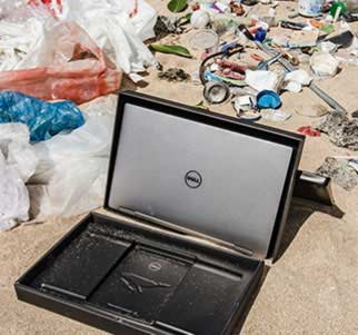 a recycled Dell computer