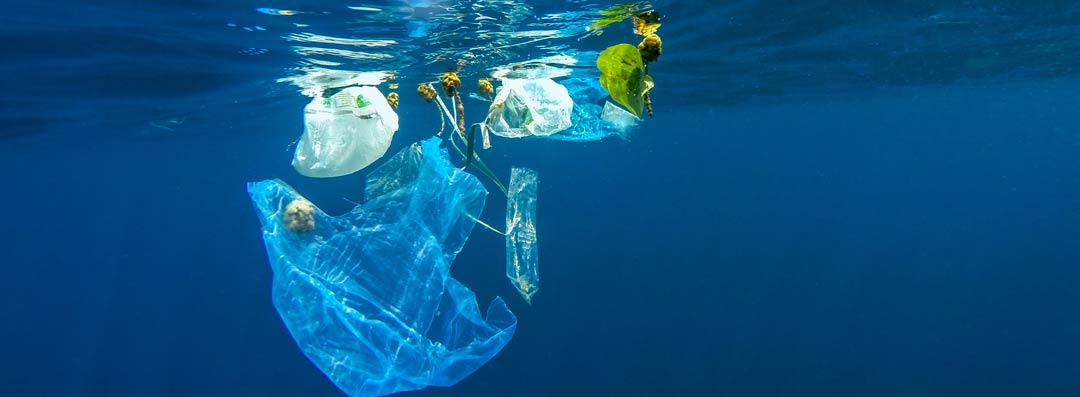 plastic waste in the ocean